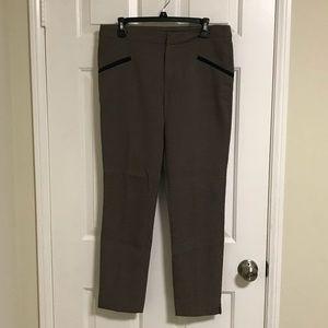 Zara houndstooth trouser with Navy trim
